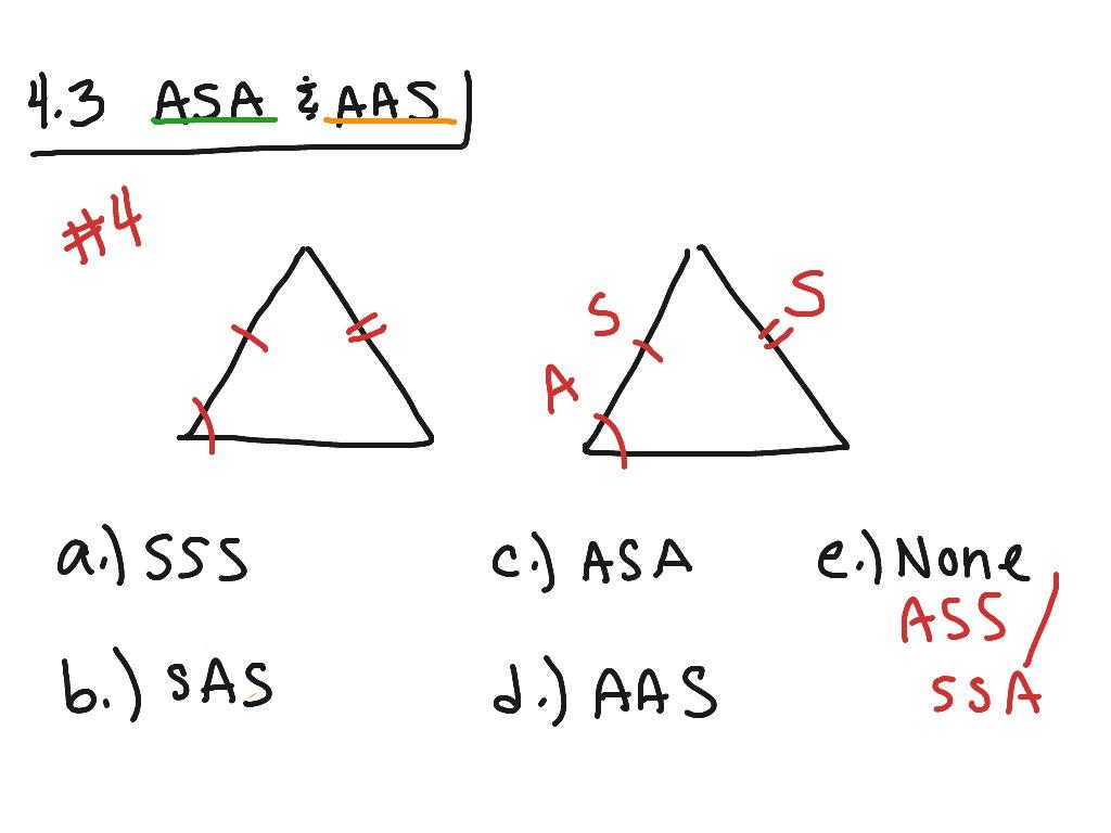 Sas Sss Asa Aas Worksheet