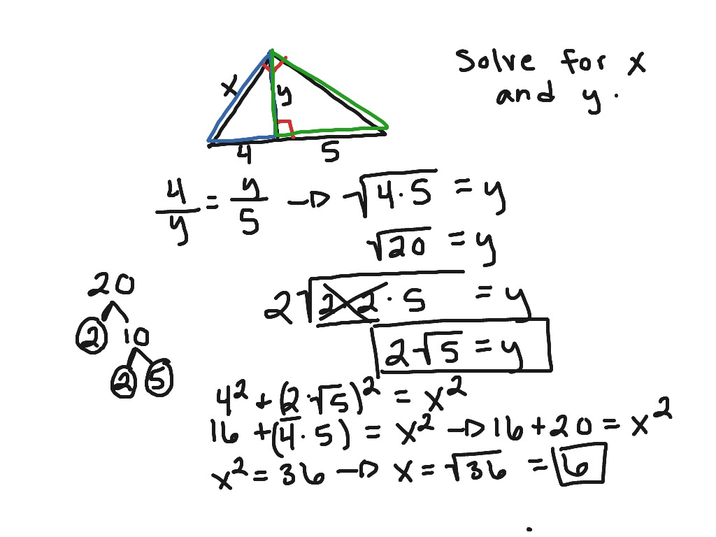How To Solve Similar Right Triangles