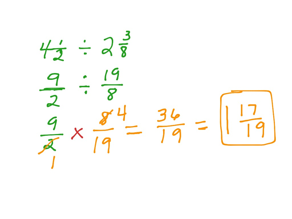 Dividing Fractions With Mixed Numbers