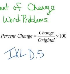 Percent of Change: Word Problems   Math [ 768 x 1024 Pixel ]