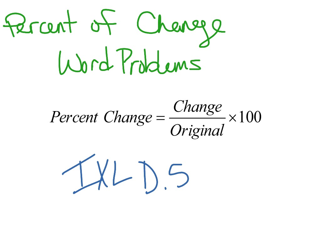 hight resolution of Percent of Change: Word Problems   Math