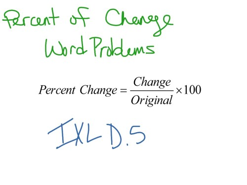 small resolution of Percent of Change: Word Problems   Math