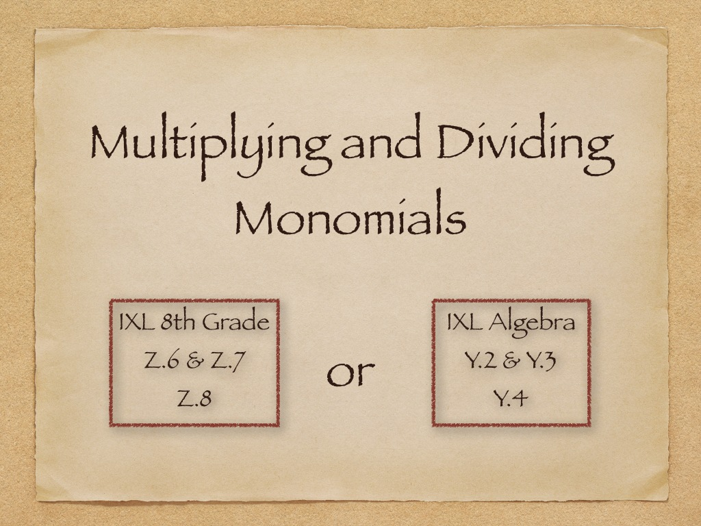 Multiplying And Dividing Monomials Worksheet With Answers