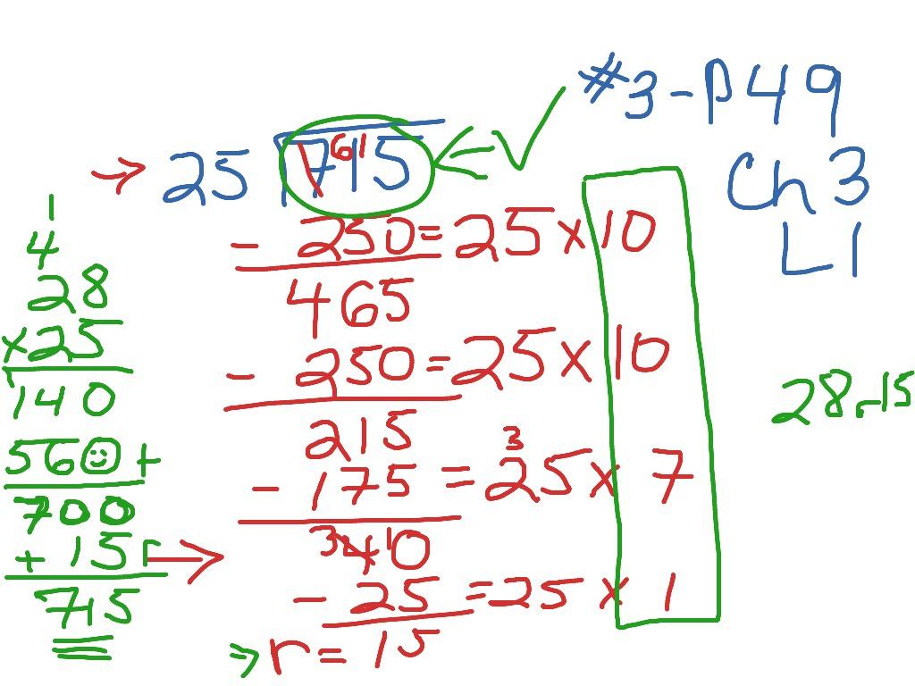 Ch3 L1 Dividing By 2 Digit Divisors Using Partial Quotient Method