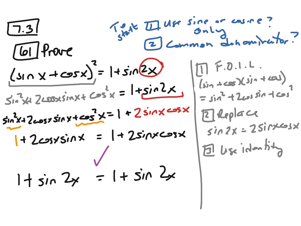 Section 7 3 Double And Half Angle Formulas