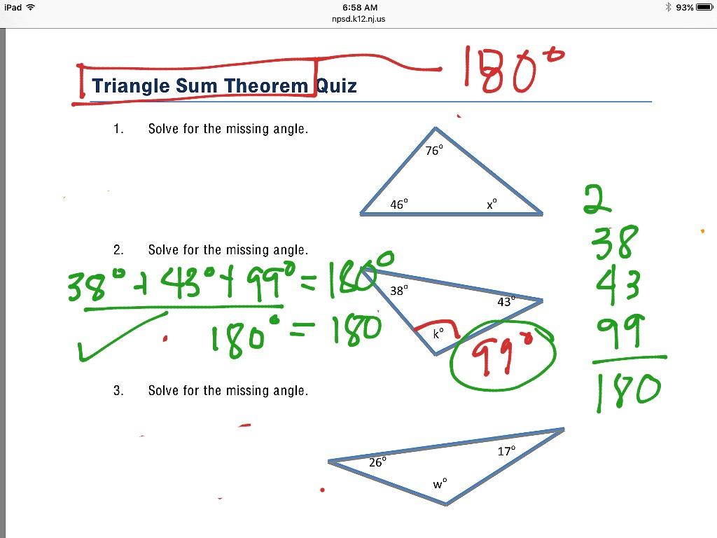 Triangle Sum Theorem Intro