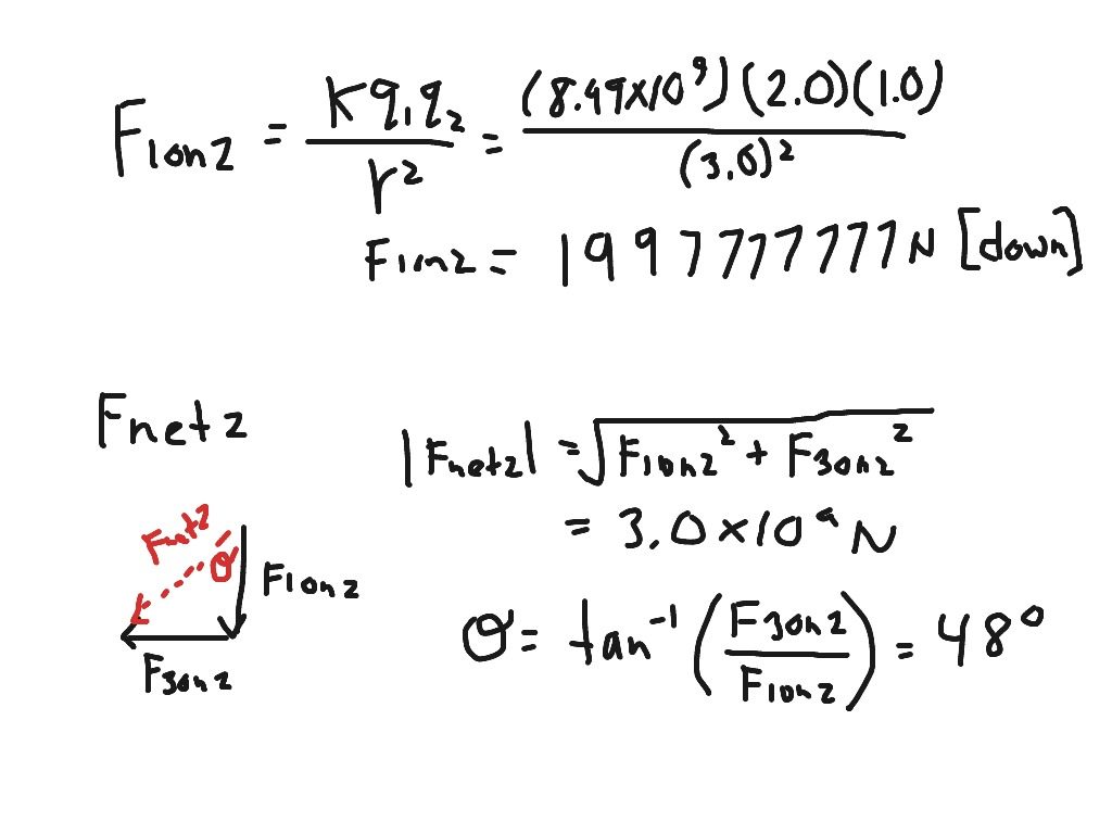 Electrostatics 3 3 Coulomb S Law And Vector Addition
