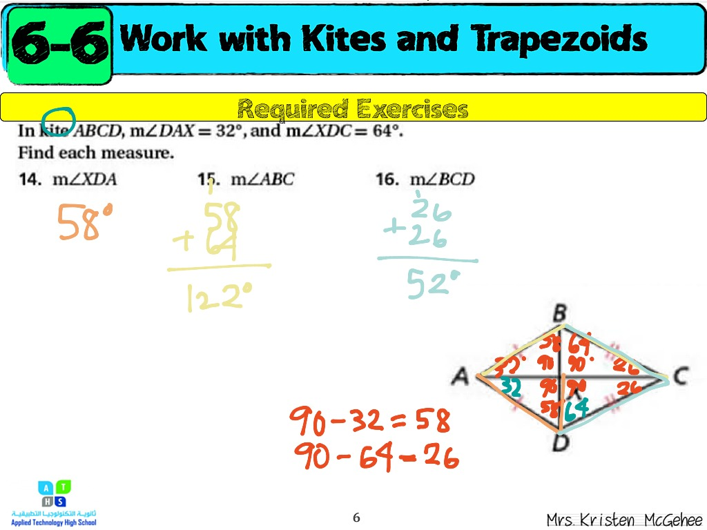 Finding Missing Angles In A Kite