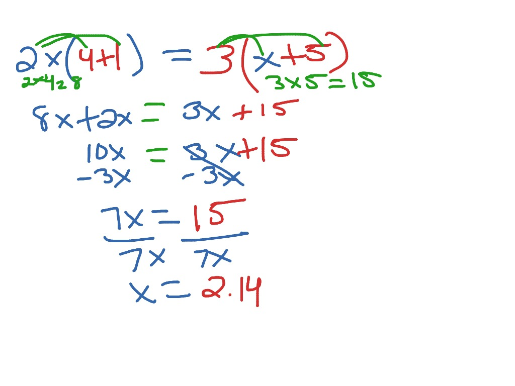 How To Solve An Equation Using Distributive Property