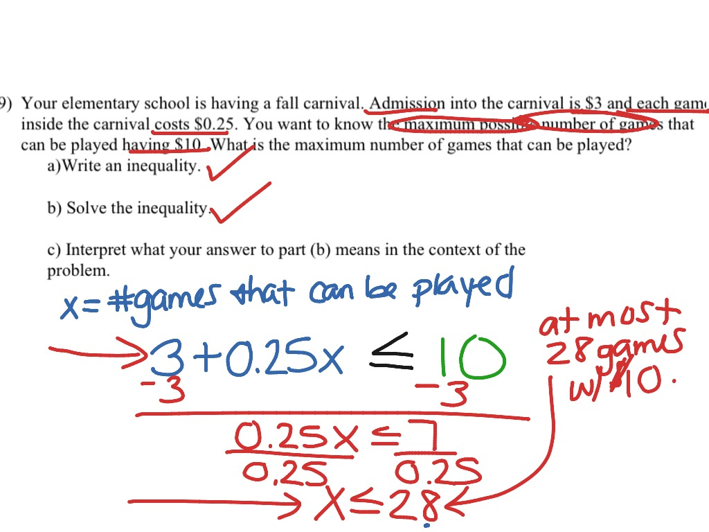 Compound Inequalities Word Problems Worksheet With Answers