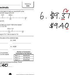 Reteach 2-2 Rounding Decimals   Math [ 768 x 1024 Pixel ]