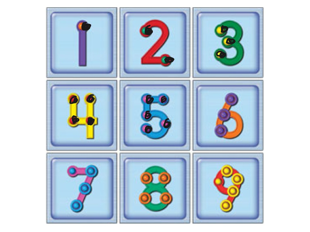 Touch Counting Numbers One Through Five
