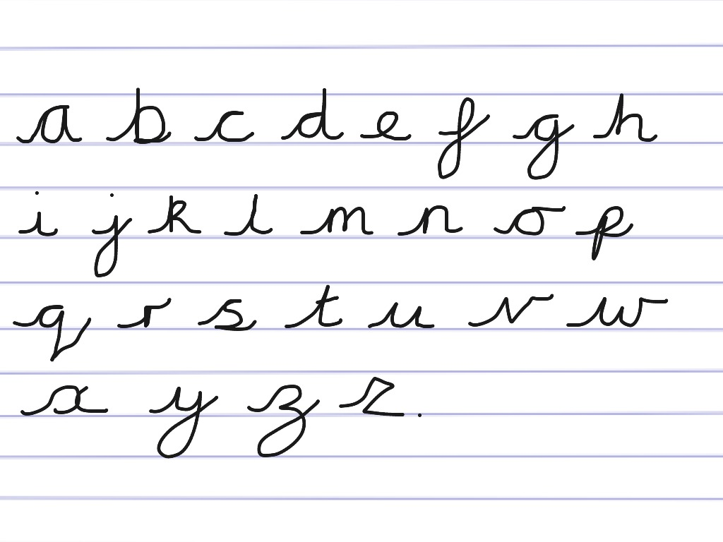 Handwriting Cursive Alphabet