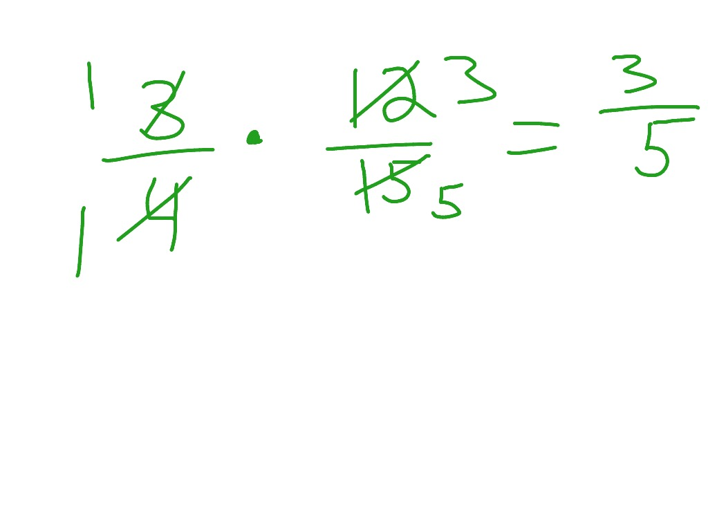 Cross Simplifying Fractions