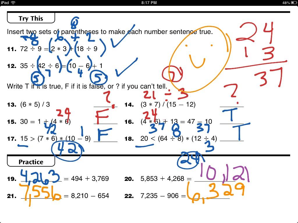 Everyday Math Worksheets