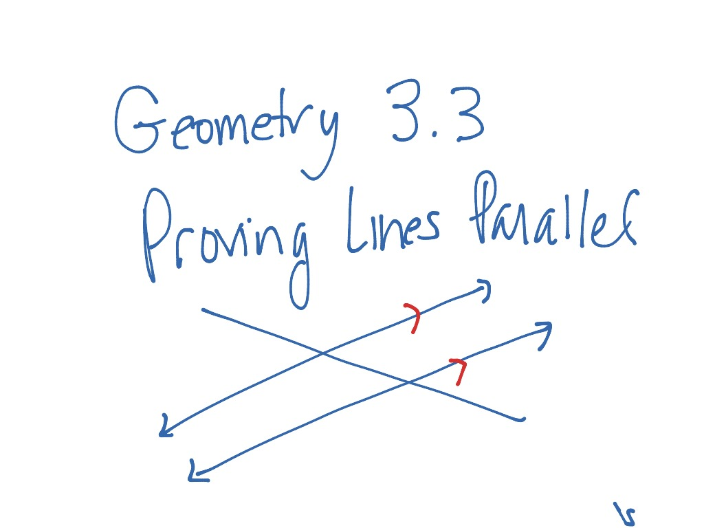 Geometry 3 3 Proving Lines Parallel