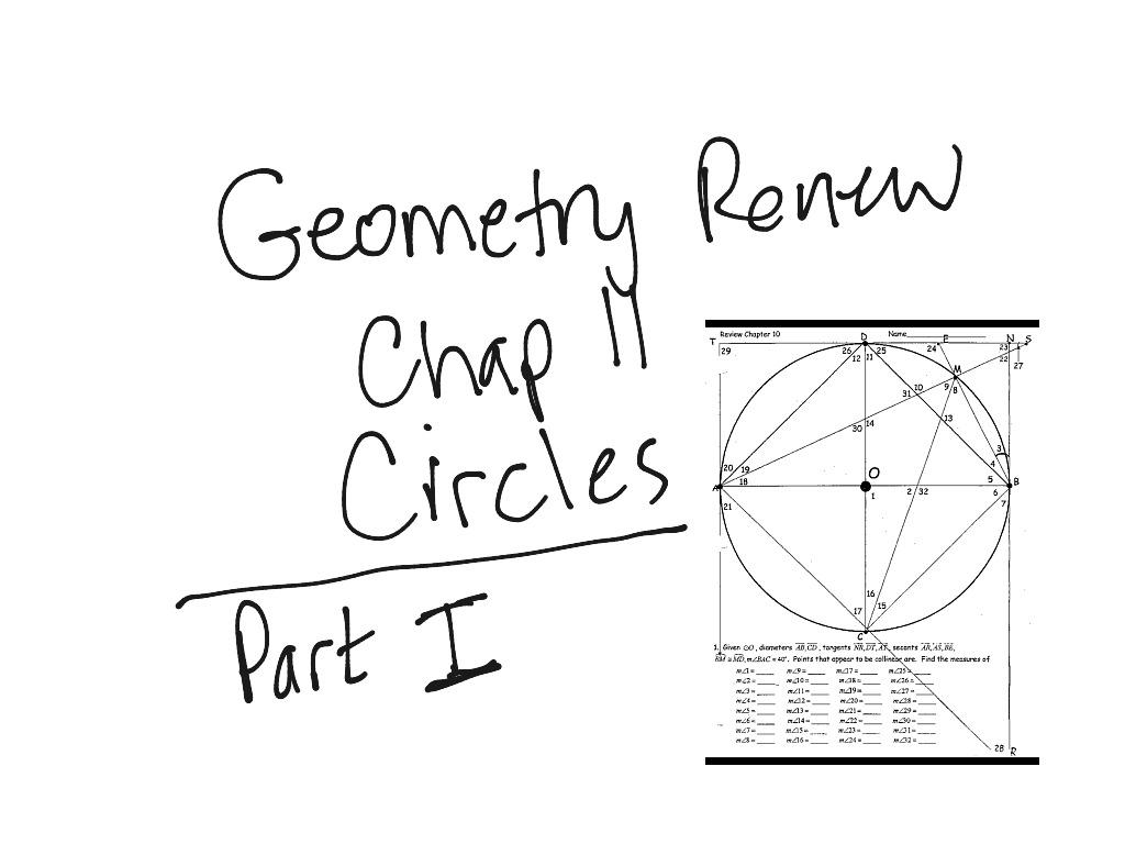 Geometry Circles Review Worksheet