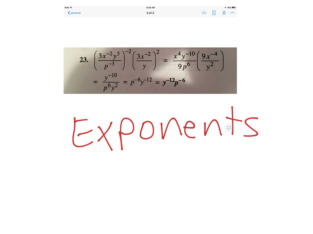 23 Multiplying Amp Dividing Exponents
