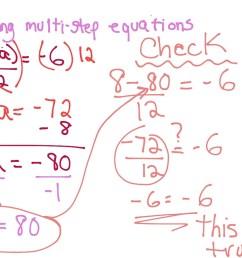 Solving Multi-Step Equations   Math [ 768 x 1024 Pixel ]