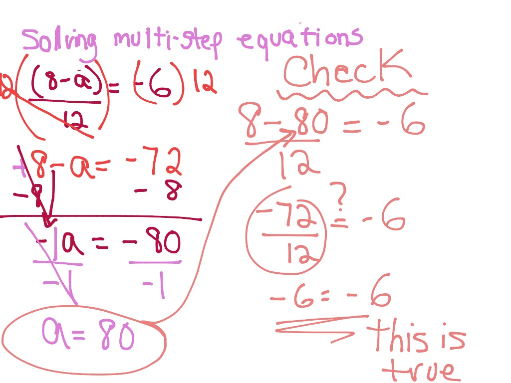 hight resolution of Solving Multi-Step Equations   Math