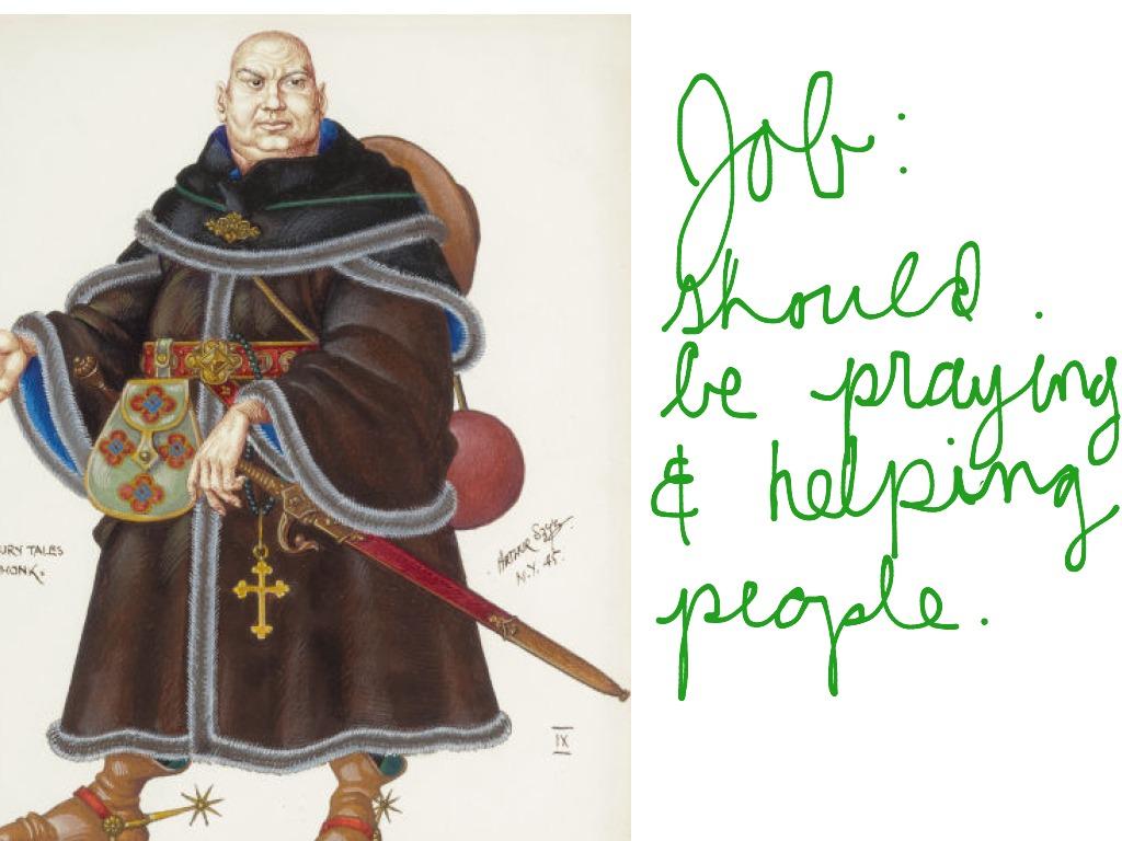 Canterbury Tales Monk