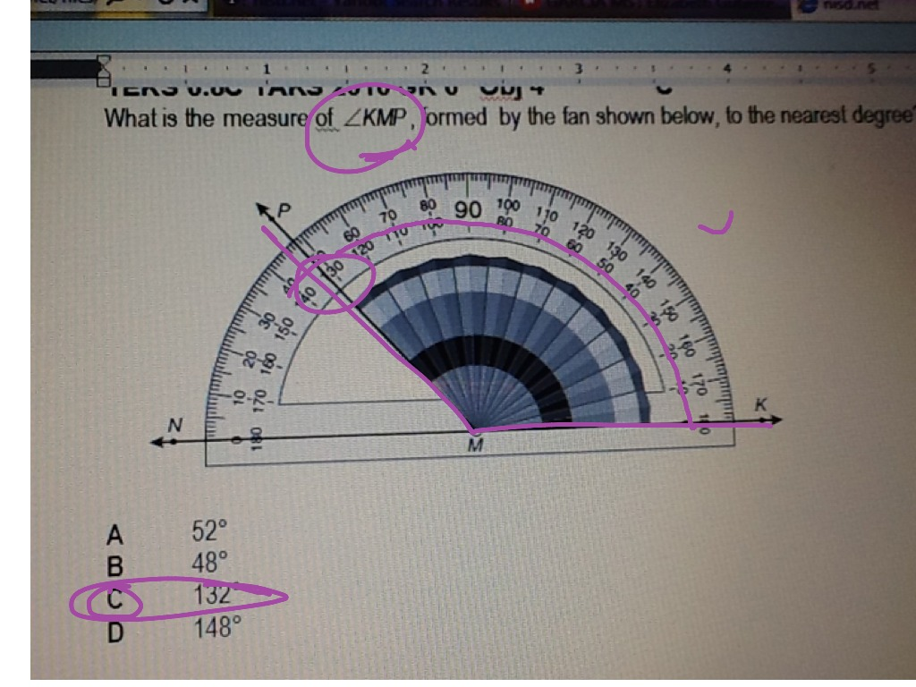 Reading Angles Using A Protractor