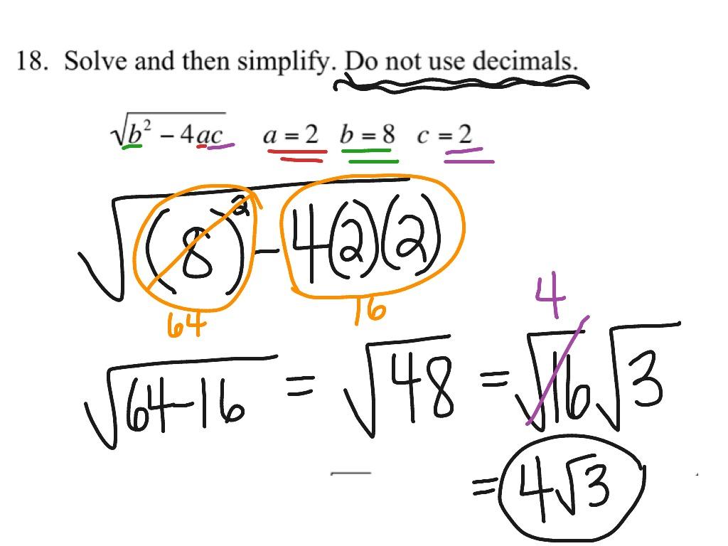 Simplifying Radical Extra Day Ws