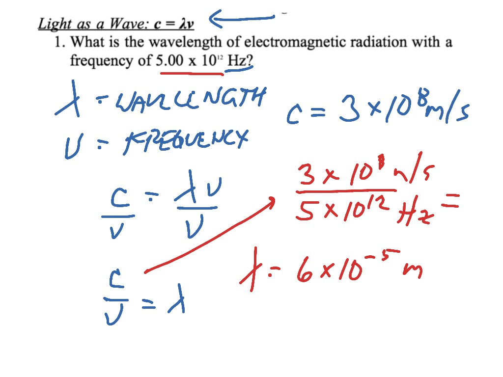 Wavelength And Frequency Calculation