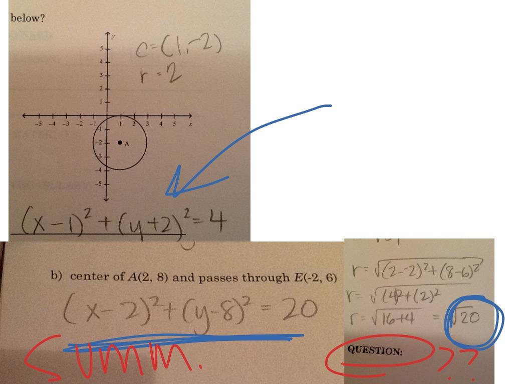 Geo 11 7 Equation Of A Circle