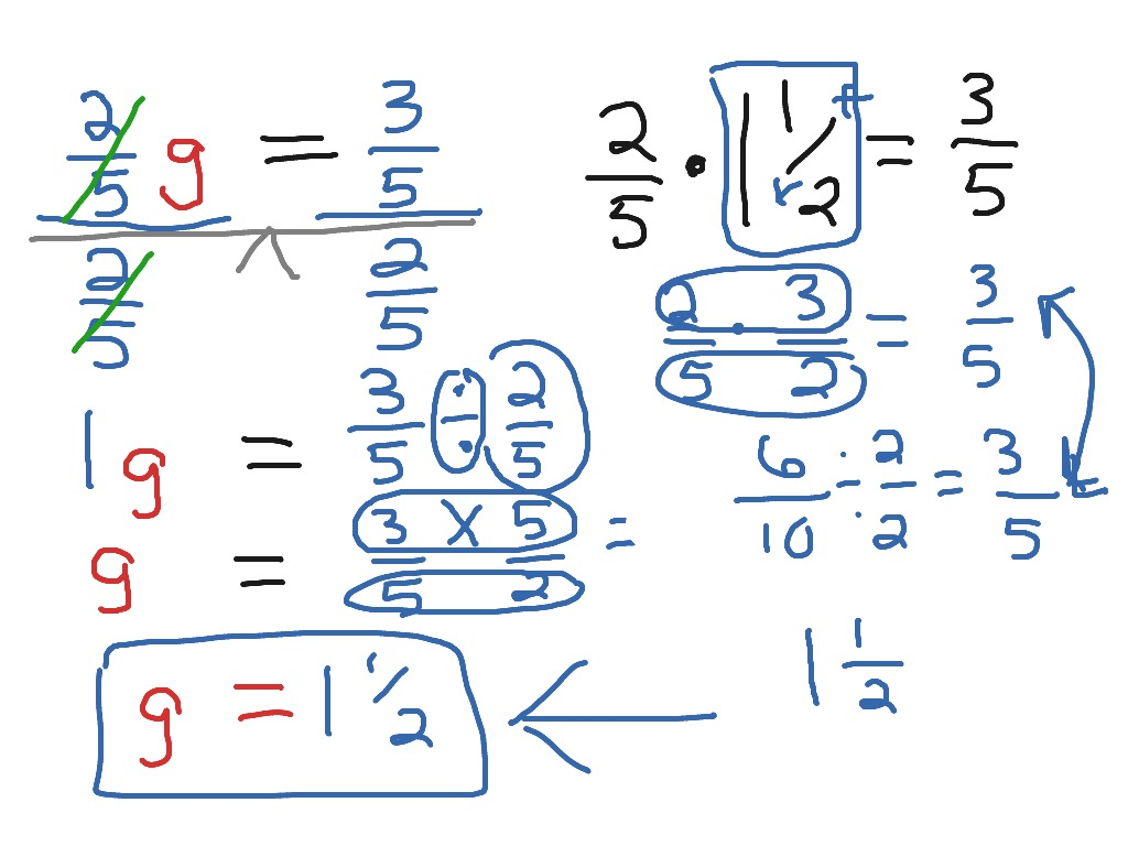 Solving Multiplication Equations With Fractions