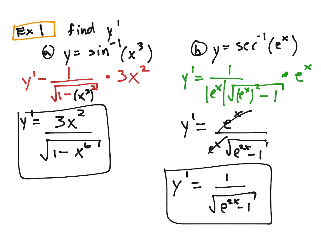16 P 268 Derivatives Of Inverse Trig Functions