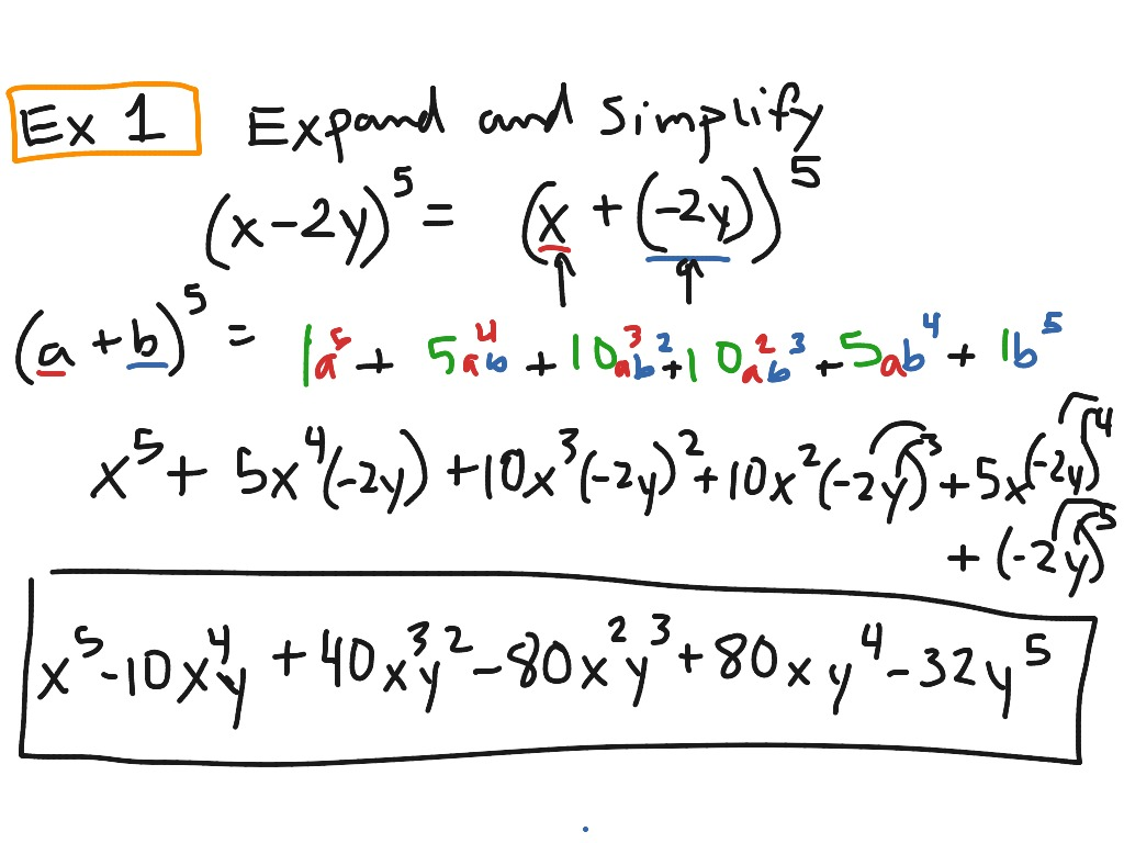 Alg 2 Binomial Expansion With Pascal S Triangle