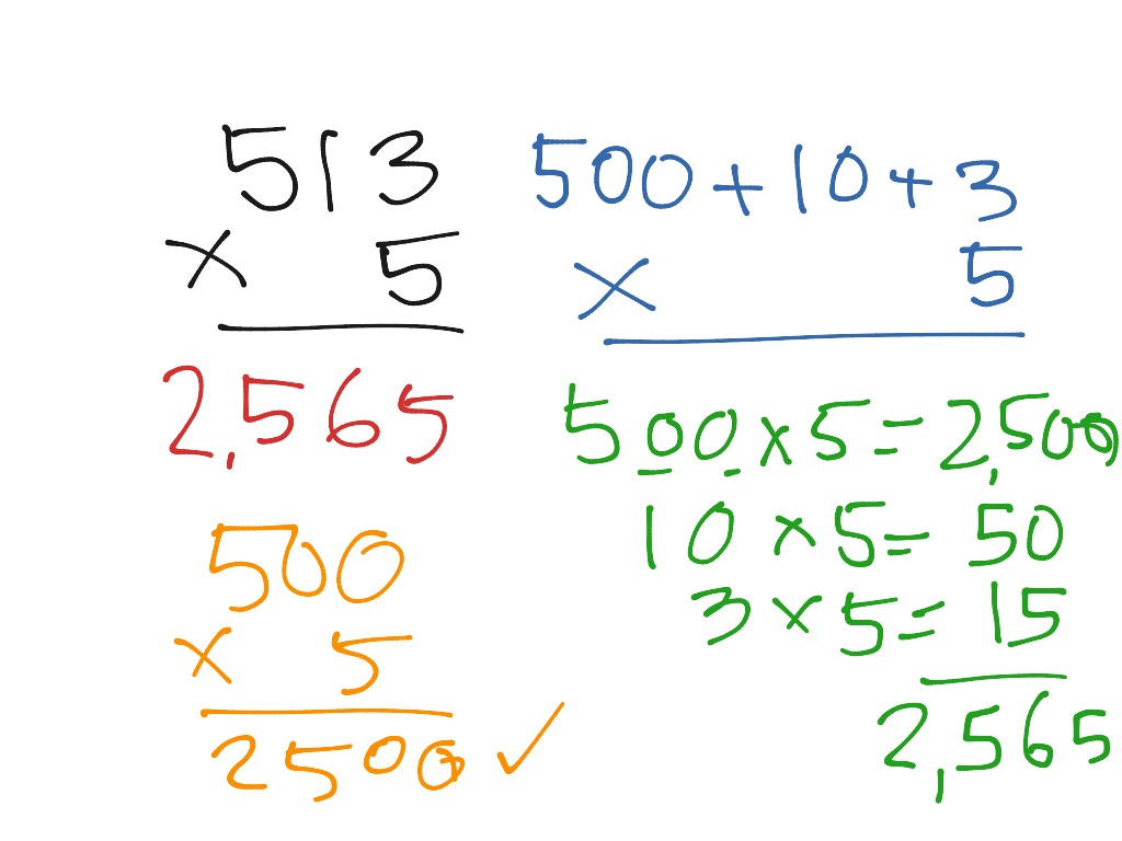 3 X 1 Multiplication Using Expanded Notation