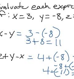Evaluate Algebraic Expressions   Pre-algebra [ 768 x 1024 Pixel ]