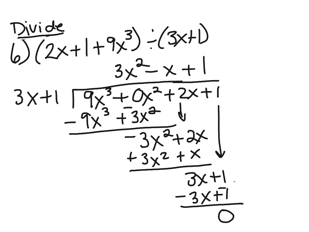 Polynomial Long Division Worksheet Algebra 2
