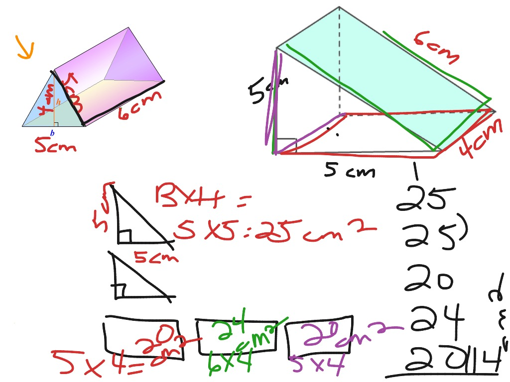 Surface Area Triangular Prism