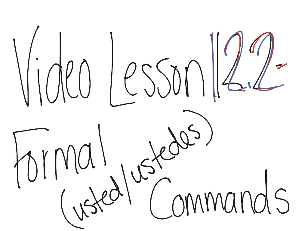 Formal Commands And Negative Formal Commands Spanish Class