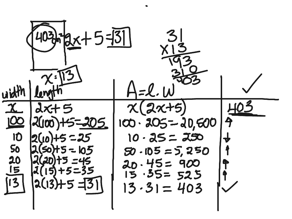 Alg. 8-109 A Quadratic Word Problem!!! (Test Worthy