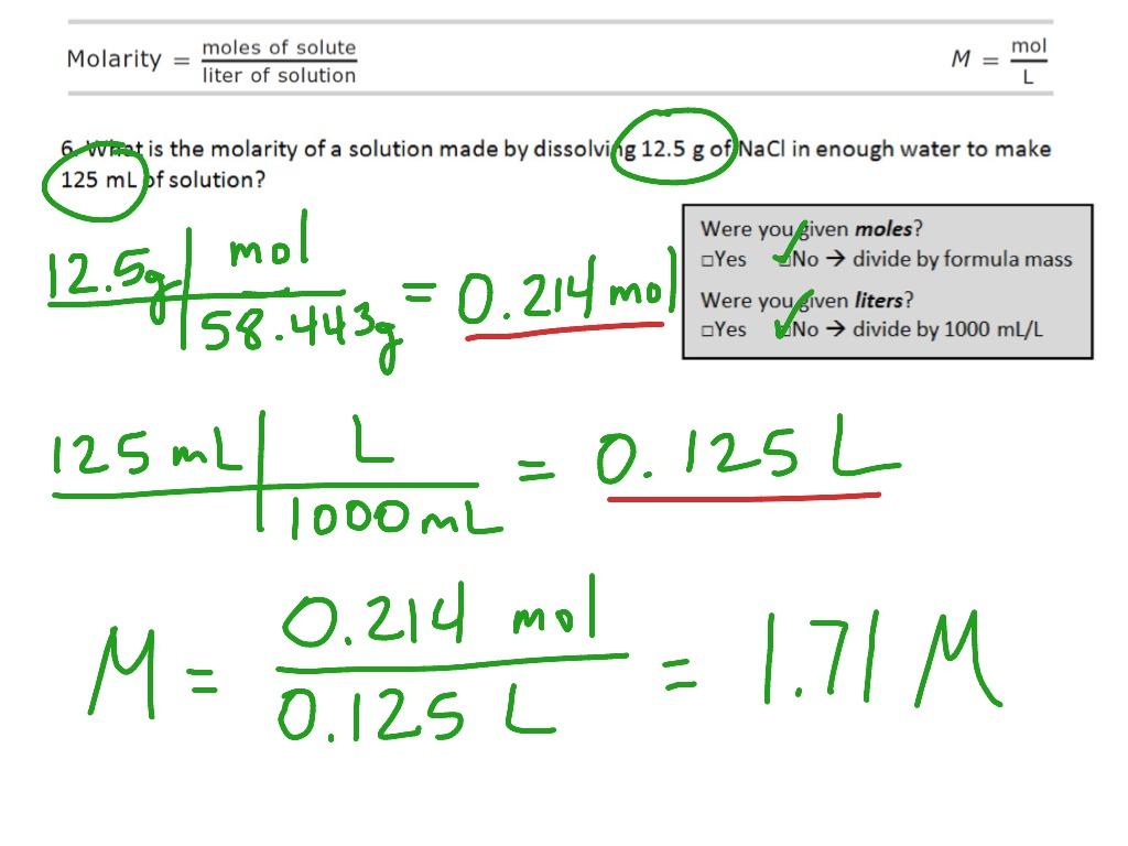 worksheet. Molarity Calculations Worksheet. Carlos Lomas