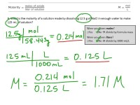 worksheet. Molarity Calculations Worksheet. Carlos Lomas ...