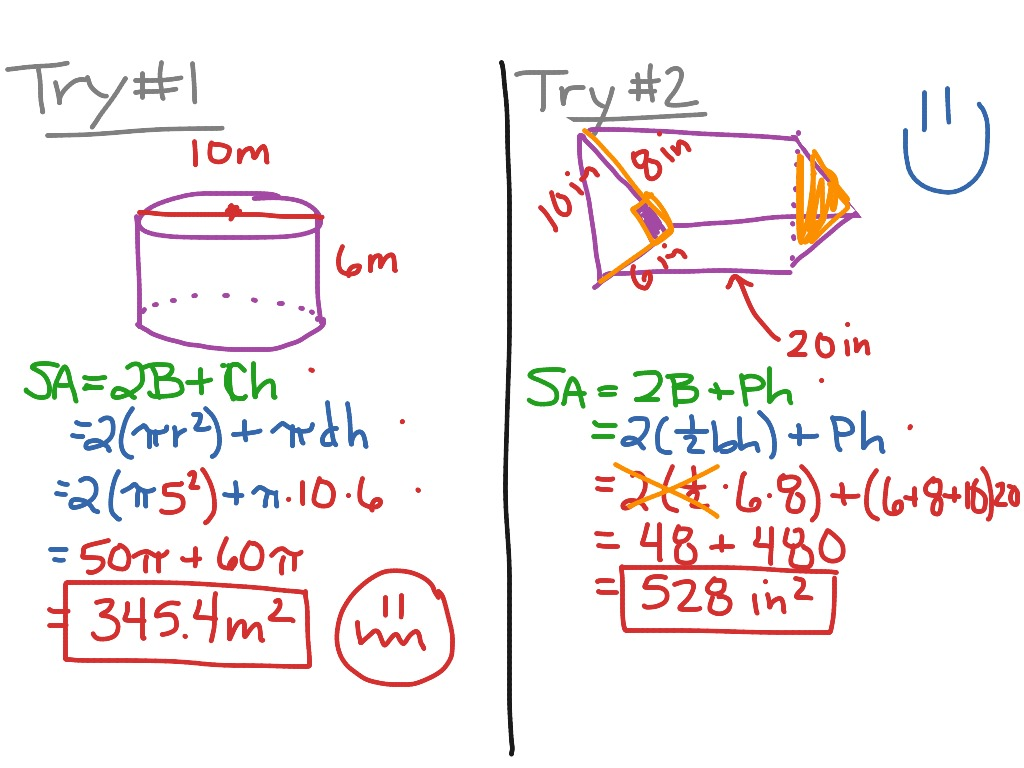 8 4 Surface Area Of Prisms And Cylinders