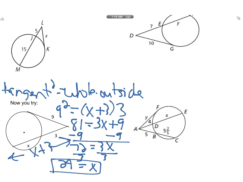 Angles And Segments In Circles Worksheet