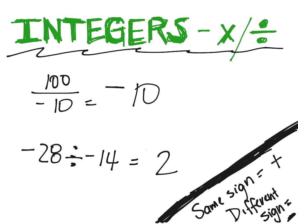 25 Math Worksheets Integers Multiplication