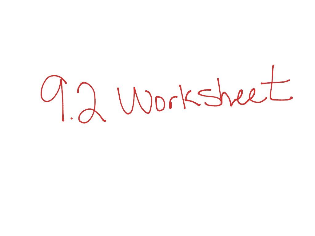 9 2 Lesson Worksheet