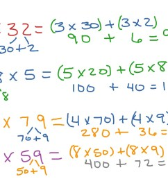 CCSS 4.NBT.B5 1-digit x 2-digit using distributive property   Math [ 768 x 1024 Pixel ]