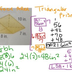 Surface Area of Triangular Prism   Math [ 768 x 1024 Pixel ]