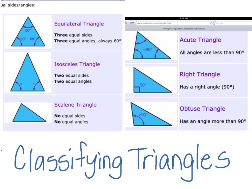 medium resolution of Classifying triangles   Math
