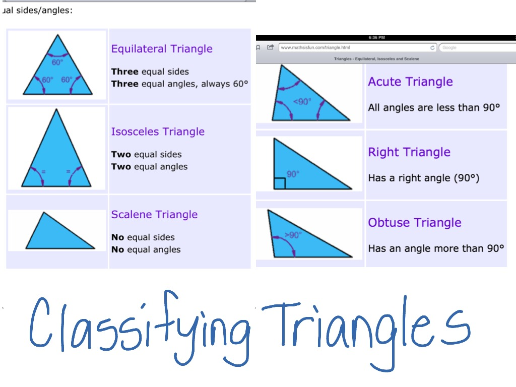 hight resolution of Classifying triangles   Math
