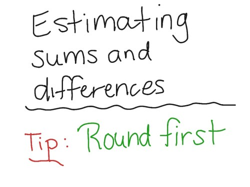 small resolution of Estimate Sums and Differences   Math