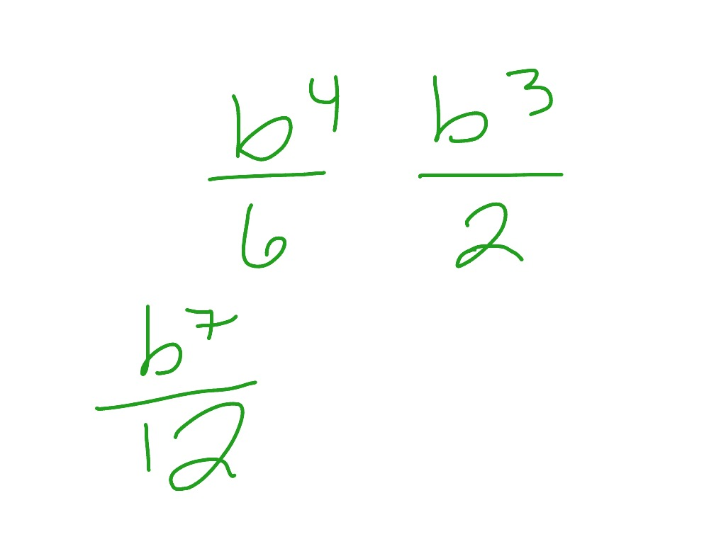 How To Multiply Fractions With Variables And Exponents
